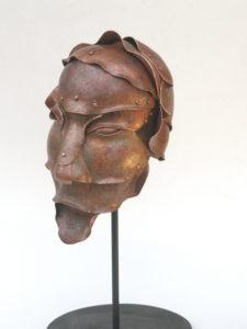 Aristide - scultura in rame - cm 20x21x32