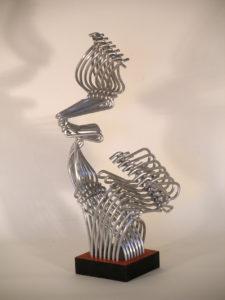Don Chisciotte e Sancho Panza - aluminum sculptures - cm35x27x57