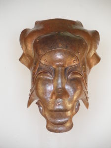 Elena - scultura in rame - cm 19x18x29