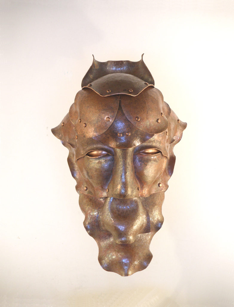Arturo - Copper sculpture - cm18x19x40