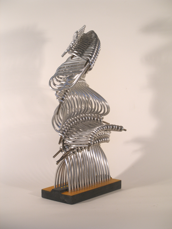 Free armony - aluminium sculpture - cm 33x23x54